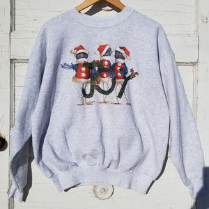 CHRISTMAS Sweater VINTAGE 1990's Womens L